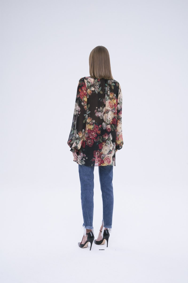 Sheer Oversized Floral Blouse: SOFIA - FASH - The Clothing LoungeFASH