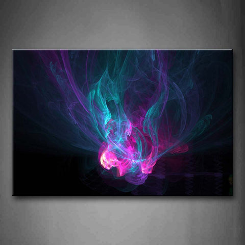 Artistic Pink Blue Like Smoke Wall Art Painting The Picture Print On Canvas Abstract Pictures For Home Decor Decoration Gift
