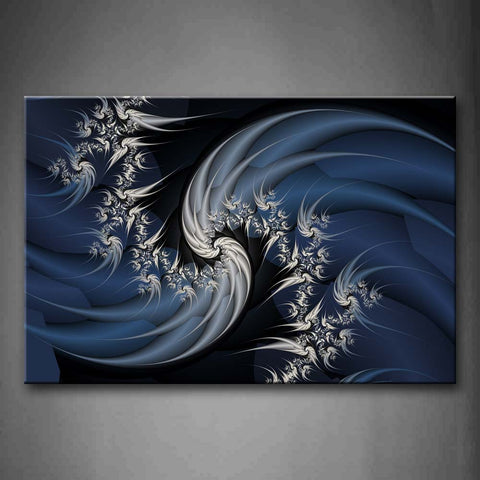 Artistic White Spiral Pattern Wall Art Painting Pictures Print On Canvas Abstract The Picture For Home Modern Decoration