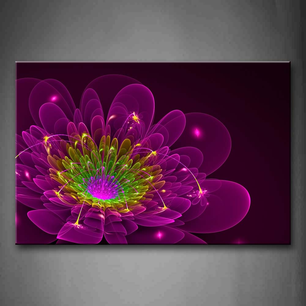 Artistic Purple Flower  Wall Art Painting The Picture Print On Canvas Abstract Pictures For Home Decor Decoration Gift