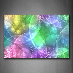 Artistic Colorful Rings Wall Art Painting The Picture Print On Canvas Abstract Pictures For Home Decor Decoration Gift