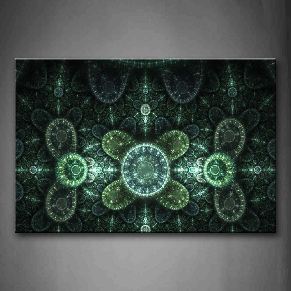 Abstract Circles Light Green Wall Art Painting Pictures Print On Canvas Abstract The Picture For Home Modern Decoration