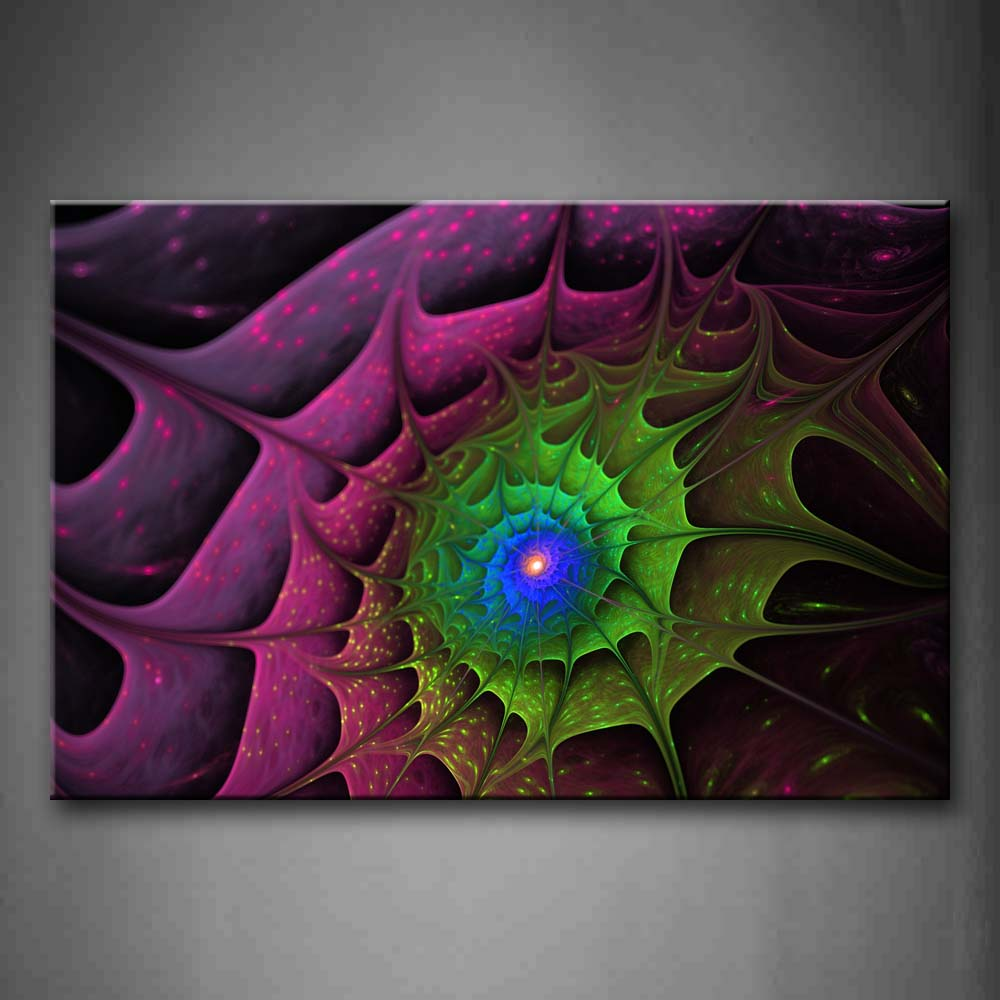 Abstract Green Pink  Wall Art Painting Pictures Print On Canvas Abstract The Picture For Home Modern Decoration