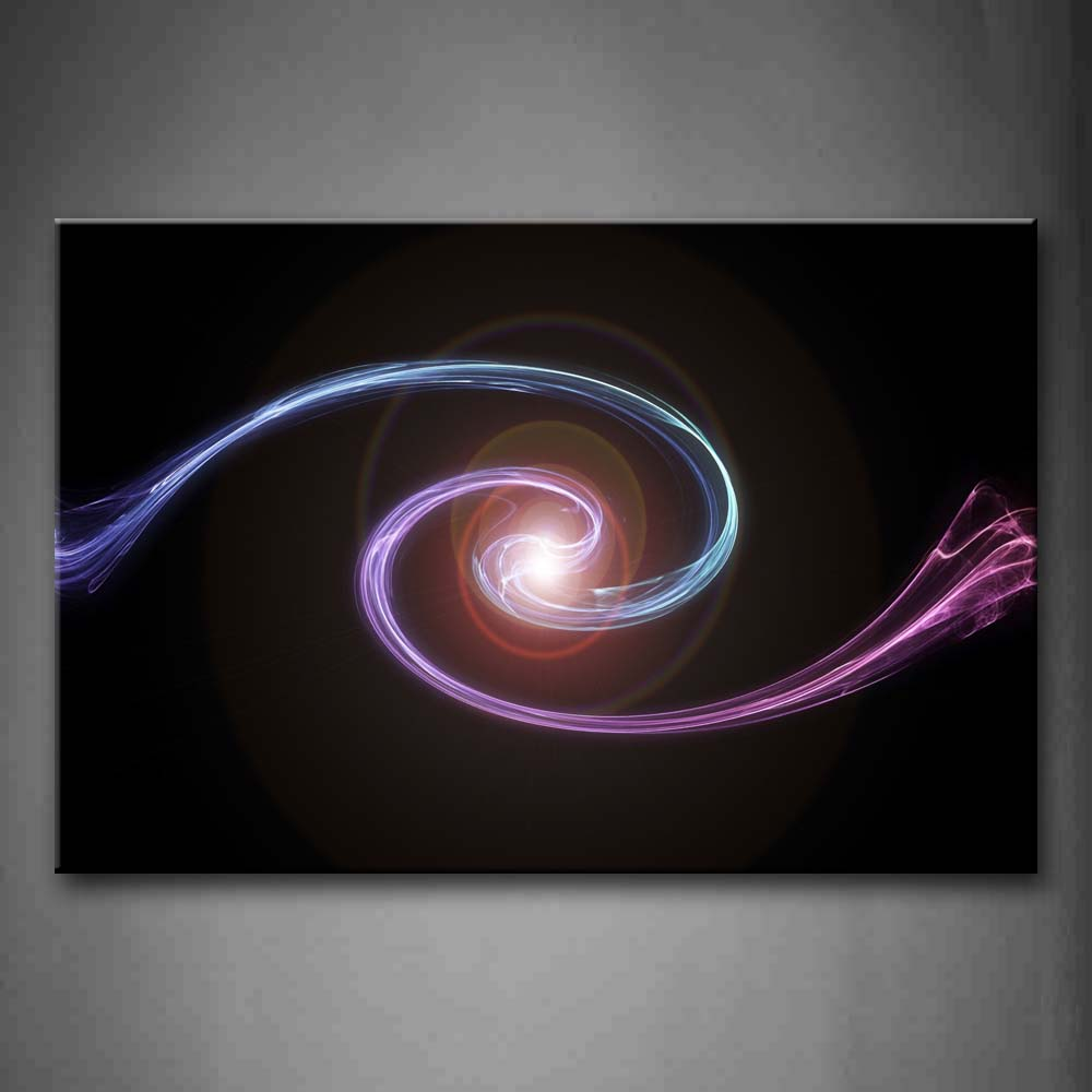 Abstract Blue Purple Circle  Wall Art Painting Pictures Print On Canvas Abstract The Picture For Home Modern Decoration