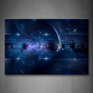 Artistic Blue Shiny Dots Wall Art Painting The Picture Print On Canvas Abstract Pictures For Home Decor Decoration Gift