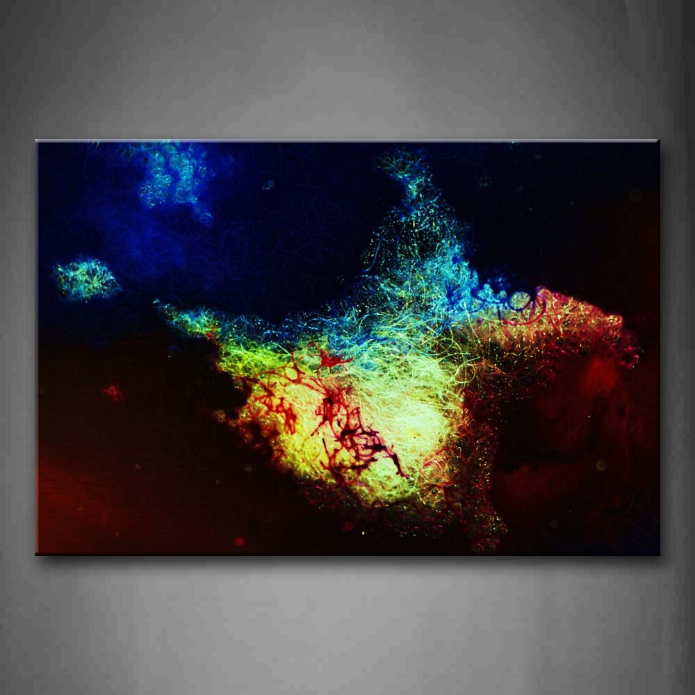 Abstract Colorful Curves Wall Art Painting The Picture Print On Canvas Abstract Pictures For Home Decor Decoration Gift