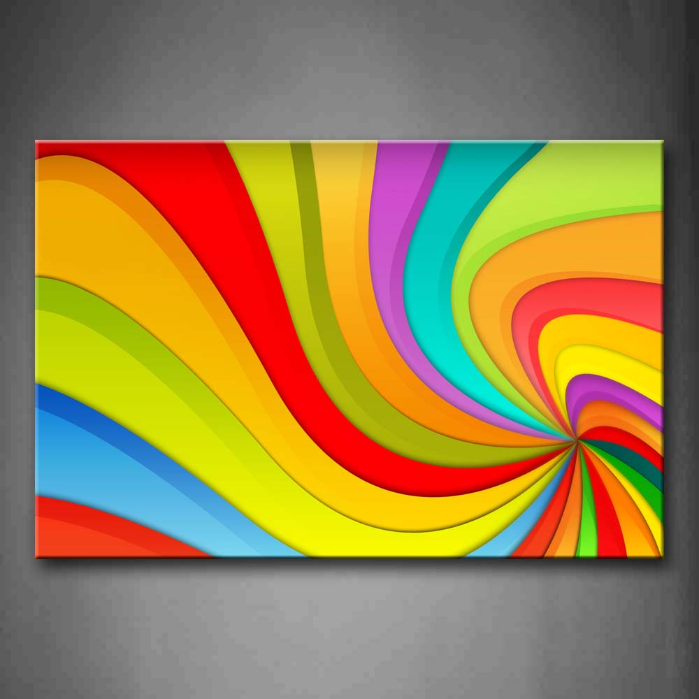 Abstract Like A Colorful Hole Wall Art Painting Pictures Print On Canvas Abstract The Picture For Home Modern Decoration