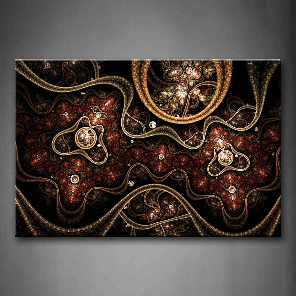 Abstract Brown Circles Wall Art Painting The Picture Print On Canvas Abstract Pictures For Home Decor Decoration Gift