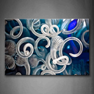 Abstract Blue Gray Like Worm Wall Art Painting Pictures Print On Canvas Abstract The Picture For Home Modern Decoration