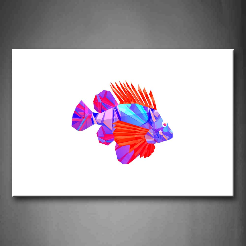 Abstract White Background Like Red And Blue Fish Wall Art Painting Pictures Print On Canvas Abstract The Picture For Home Modern Decoration