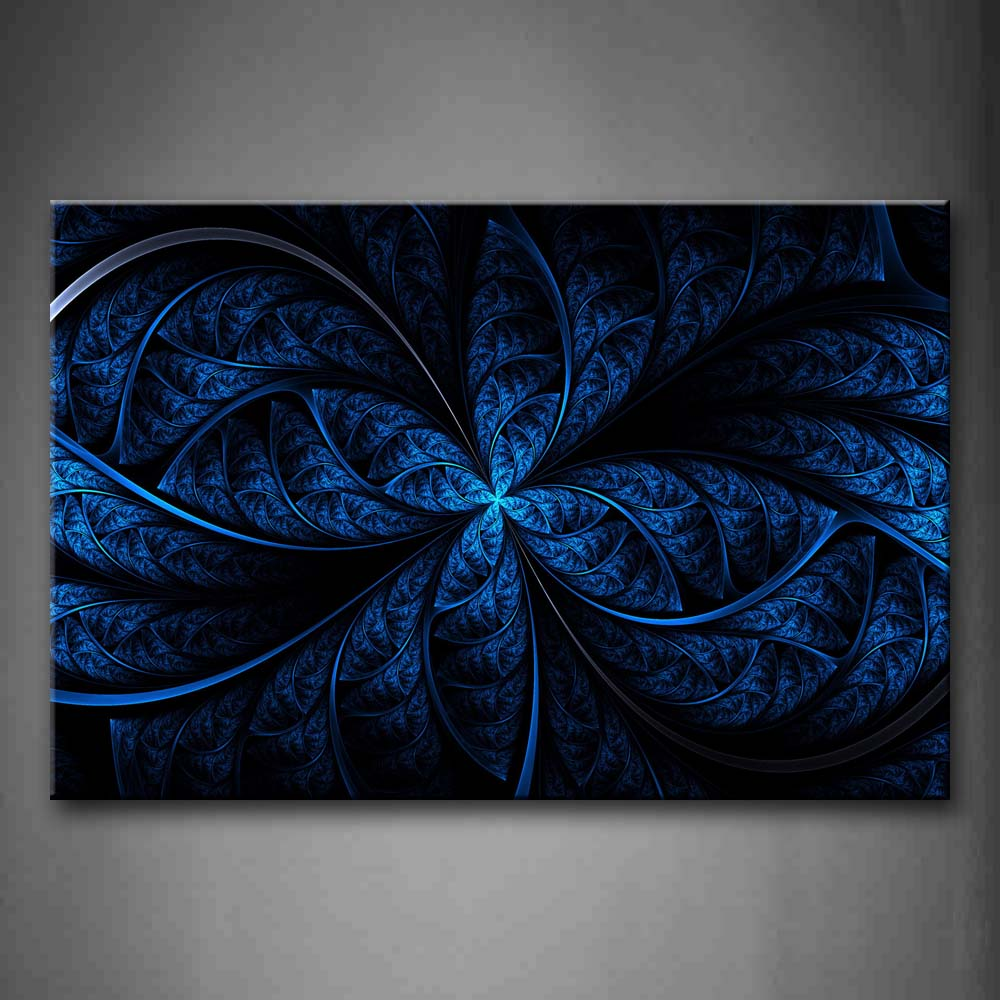 Abstract Blue Like Leafs Wall Art Painting The Picture Print On Canvas Abstract Pictures For Home Decor Decoration Gift