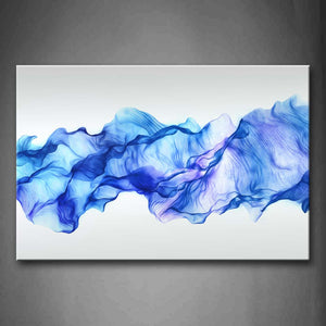 Artistic Abstract Blue Like Wave  Wall Art Painting Pictures Print On Canvas Abstract The Picture For Home Modern Decoration