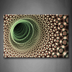 Artistic Green Brown Like A Hole Wall Art Painting Pictures Print On Canvas Abstract The Picture For Home Modern Decoration