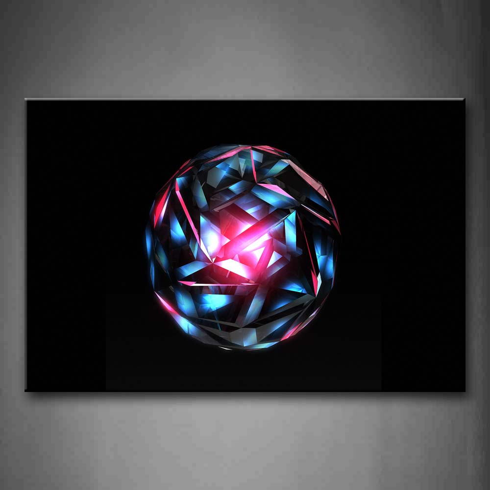 Black Background A Blue And Pink Ball Wall Art Painting Pictures Print On Canvas Abstract The Picture For Home Modern Decoration