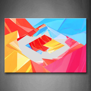 Abstract Colorful Different Shape Wall Art Painting The Picture Print On Canvas Abstract Pictures For Home Decor Decoration Gift