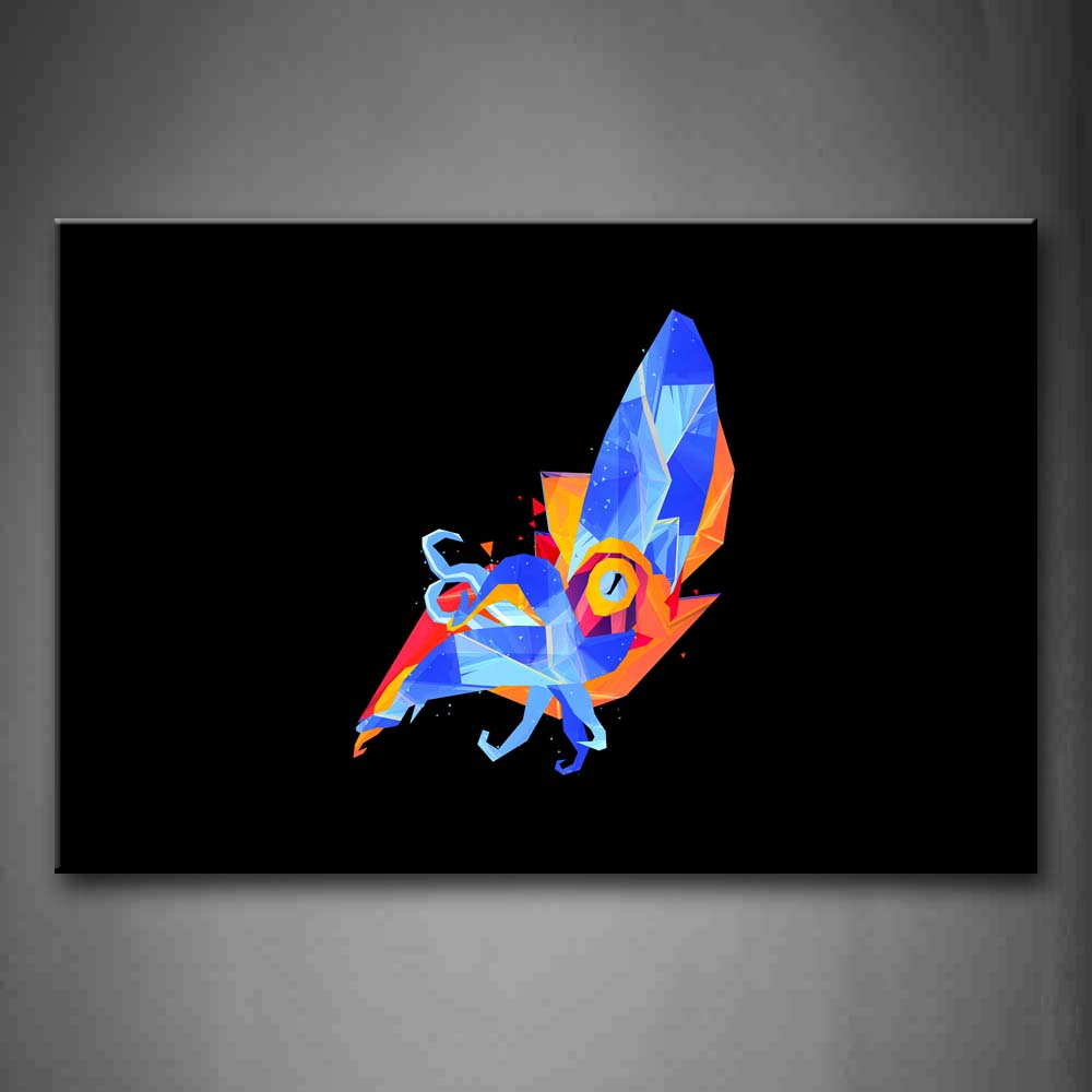 Black Background Like A Colorful Animal Wall Art Painting Pictures Print On Canvas Abstract The Picture For Home Modern Decoration