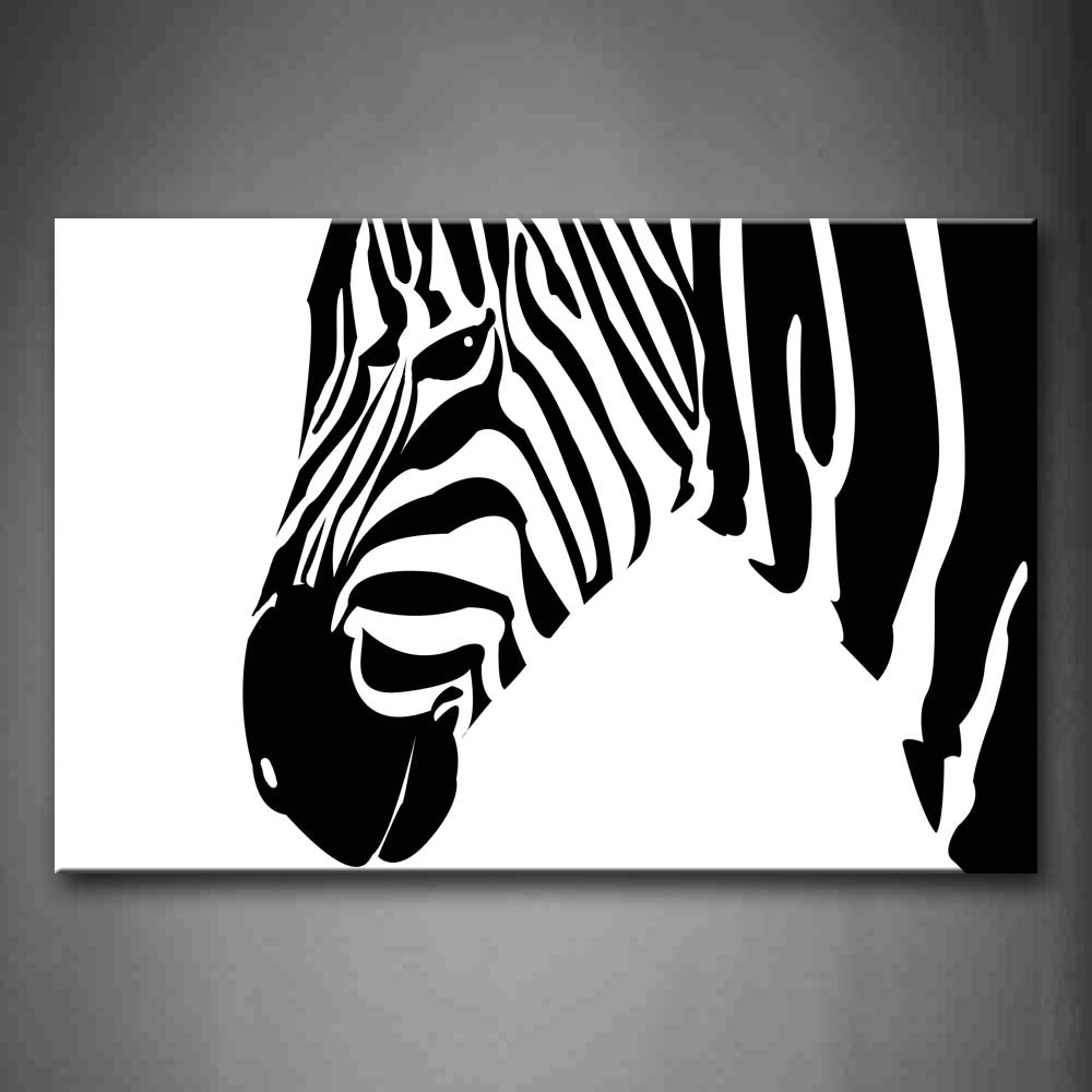 Black And White Zebra'S  Profile Wall Art Painting Pictures Print On Canvas Animal The Picture For Home Modern Decoration
