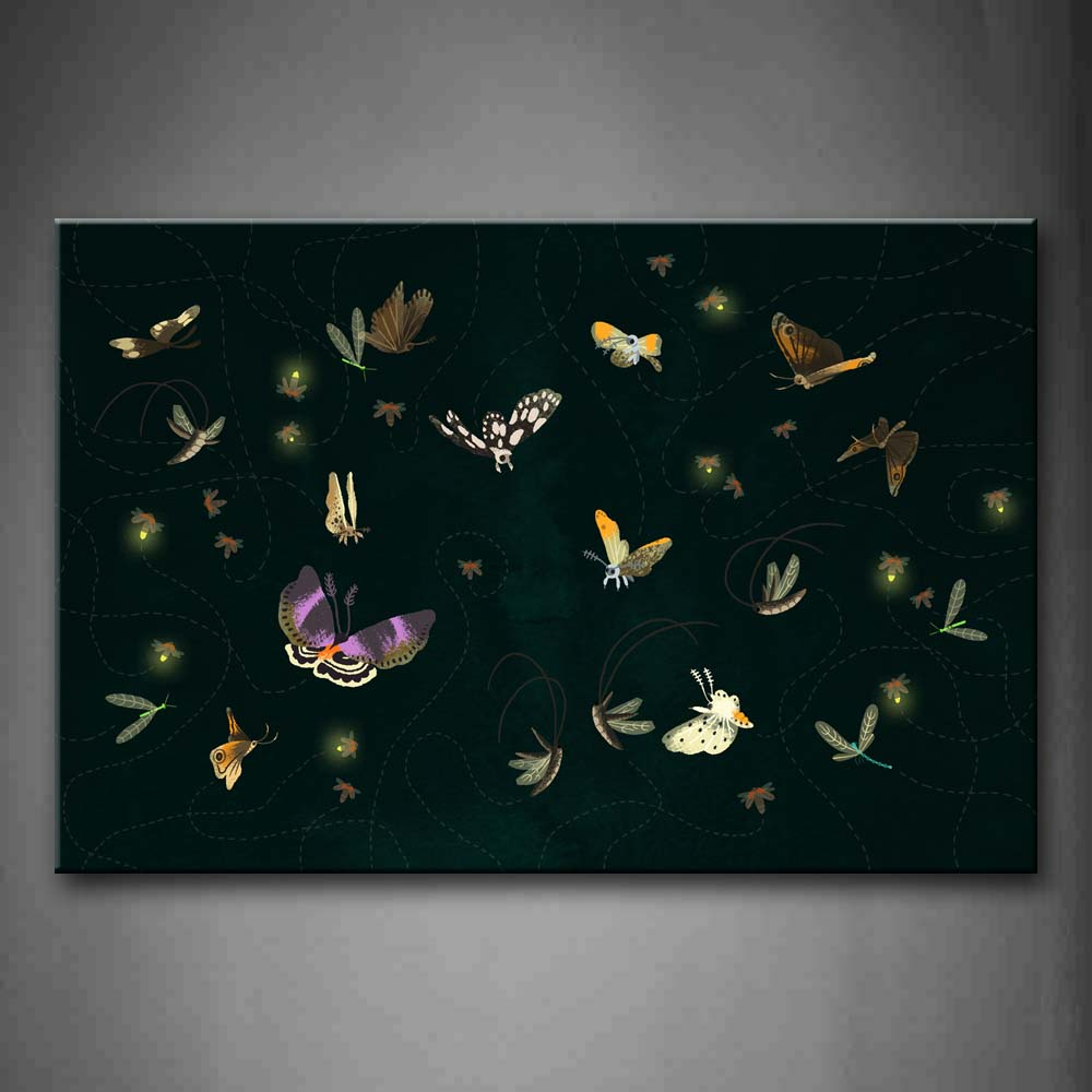 Artistic Many Butterflys  Wall Art Painting Pictures Print On Canvas Animal The Picture For Home Modern Decoration