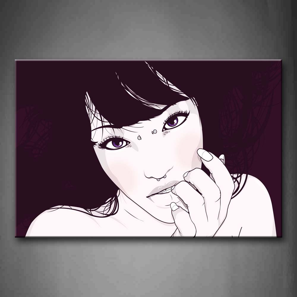 Black And White Women Head Face Hand Portrait Wall Art Painting Pictures Print On Canvas People The Picture For Home Modern Decoration