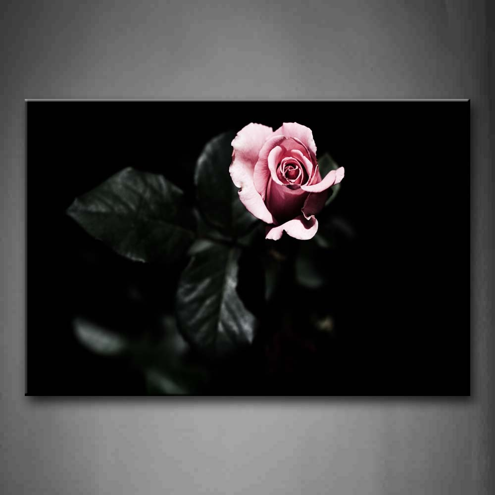A Bunch Of Rose With Leafs Portrait Wall Art Painting The Picture Print On Canvas Flower Pictures For Home Decor Decoration Gift