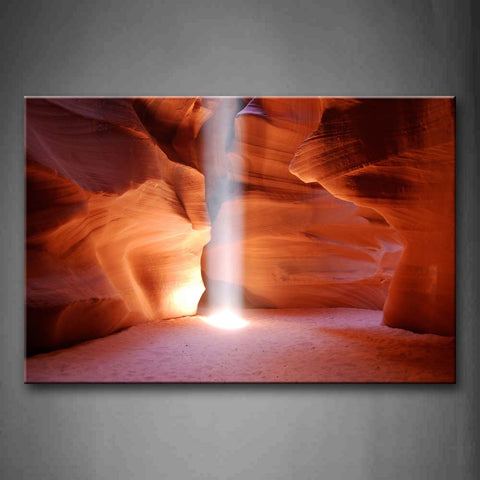 A Beam Of Light Falling Down In Antelope Canyon Wall Art Painting Pictures Print On Canvas Landscape The Picture For Home Modern Decoration