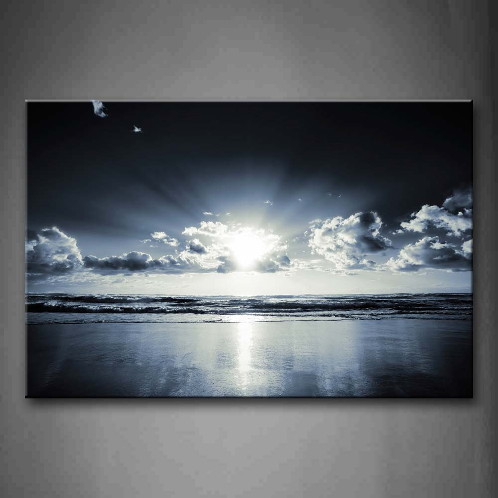 A Sheet Of Cloud Appear Indistinctly Upon Beach Wall Art Painting The Picture Print On Canvas Seascape Pictures For Home Decor Decoration Gift