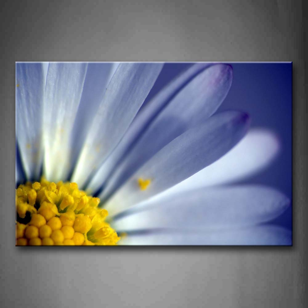 A Half Of White Flower With Yellow Anther Portrait  Wall Art Painting The Picture Print On Canvas Flower Pictures For Home Decor Decoration Gift