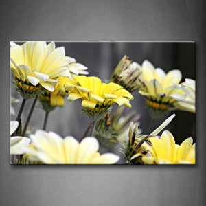 Big Flowers In Bright Yellow  Wall Art Painting Pictures Print On Canvas Flower The Picture For Home Modern Decoration