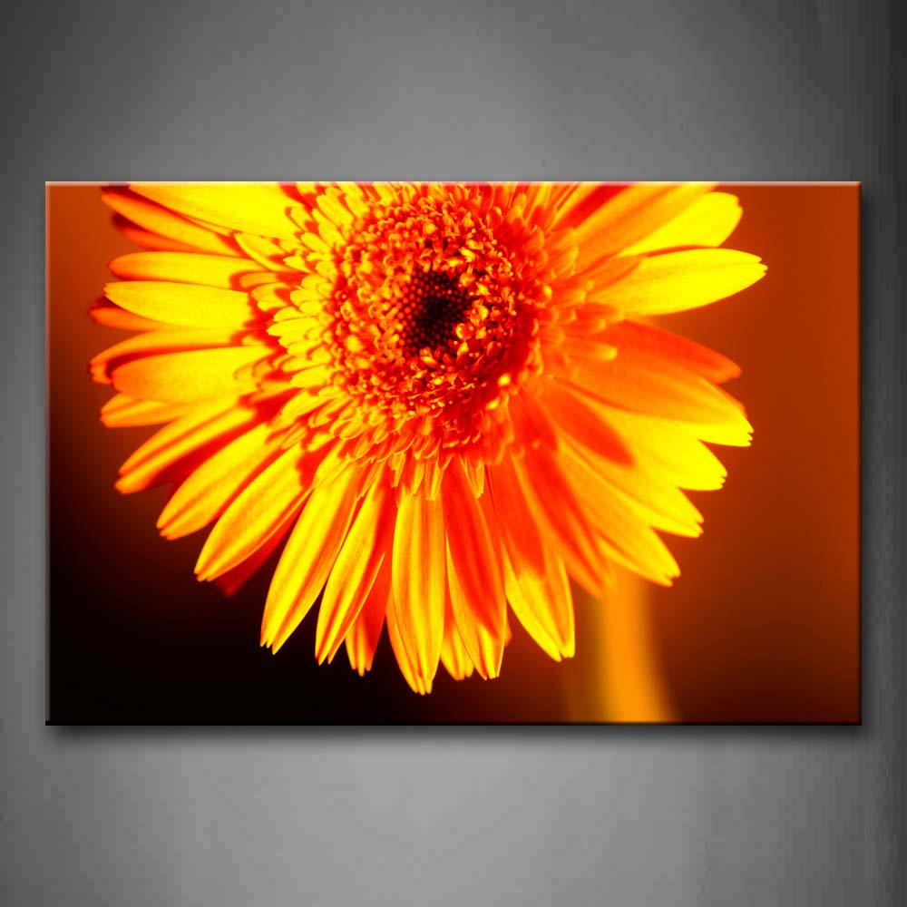 Big Daisy Whth Lush Yellow Petals Wall Art Painting The Picture Print On Canvas Flower Pictures For Home Decor Decoration Gift