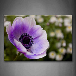 Beautiful Flower With Light Purple Petals Wall Art Painting The Picture Print On Canvas Flower Pictures For Home Decor Decoration Gift