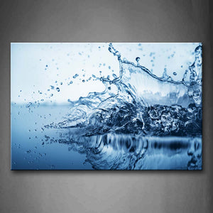 Beautiful Waterdrops In Light Blue Wall Art Painting The Picture Print On Canvas Art Pictures For Home Decor Decoration Gift