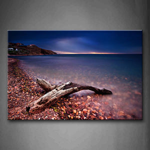 Bare Trunk On The Beach With Clear Water Wall Art Painting The Picture Print On Canvas Landscape Pictures For Home Decor Decoration Gift