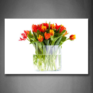 A Bunch Of Flower In Lucid Pot Wall Art Painting Pictures Print On Canvas Flower The Picture For Home Modern Decoration