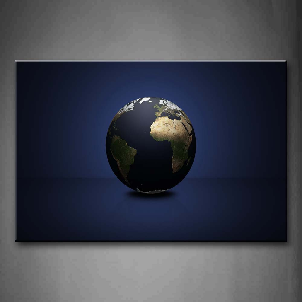 Artistic Earth On Blue Floor Wall Art Painting Pictures Print On Canvas Space The Picture For Home Modern Decoration
