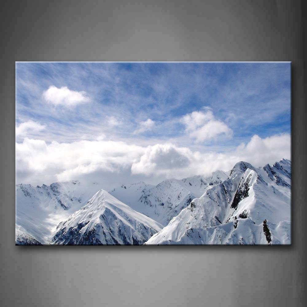 A Lot Of Snow Mountains Wall Art Painting The Picture Print On Canvas Landscape Pictures For Home Decor Decoration Gift