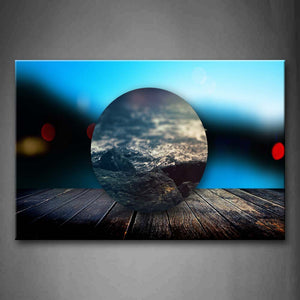 An Artistic Water Drop On Wood  Wall Art Painting Pictures Print On Canvas Space The Picture For Home Modern Decoration