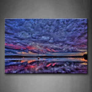 Amazing And Charming Scene Over Lake Wall Art Painting Pictures Print On Canvas Landscape The Picture For Home Modern Decoration