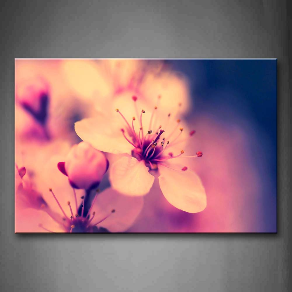 Beautiful Flowers In Pink Wall Art Painting The Picture Print On Canvas Flower Pictures For Home Decor Decoration Gift