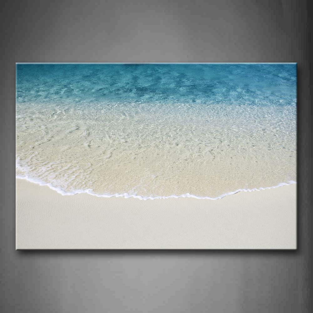 Beach With Wave And Sand Wall Art Painting The Picture Print On Canvas Seascape Pictures For Home Decor Decoration Gift