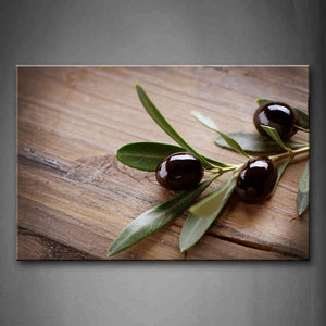 Black Olive With Green Leaf Wall Art Painting The Picture Print On Canvas Food Pictures For Home Decor Decoration Gift