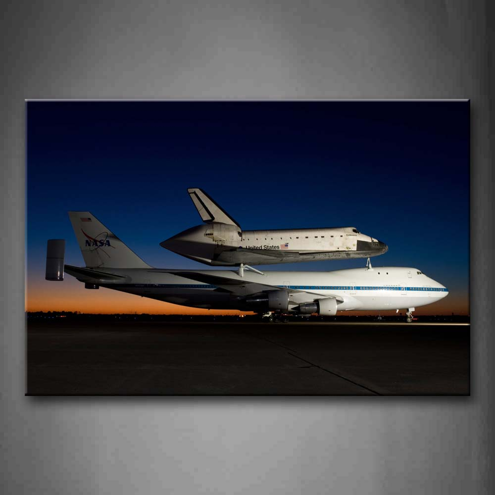 A Big Plane Under A Small Plane Wall Art Painting Pictures Print On Canvas City The Picture For Home Modern Decoration