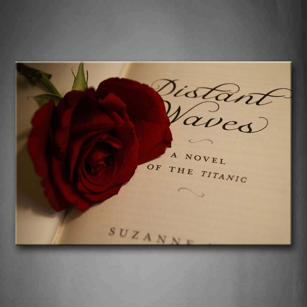 A Rose In The Book Wall Art Painting Pictures Print On Canvas Art The Picture For Home Modern Decoration