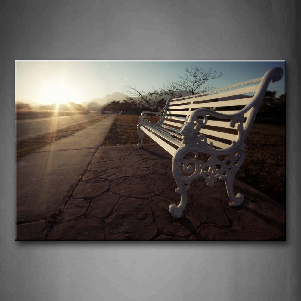 Bench With Sun Light  Wall Art Painting The Picture Print On Canvas City Pictures For Home Decor Decoration Gift