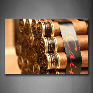 A Bundle Of Thick Cigars In Brown  Wall Art Painting The Picture Print On Canvas Art Pictures For Home Decor Decoration Gift