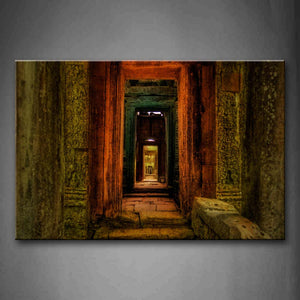 Ancient Building With Sepulchral Corridor Wall Art Painting The Picture Print On Canvas City Pictures For Home Decor Decoration Gift