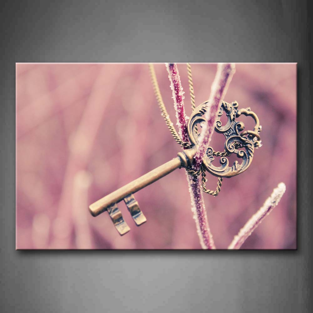 Big Key Tied Wall Art Painting Pictures Print On Canvas City The Picture For Home Modern Decoration