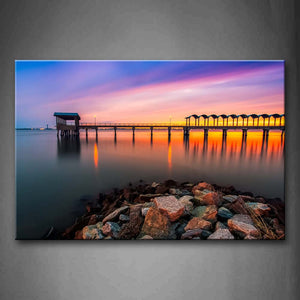 Beautiful Pier In The Sea Wall Art Painting Pictures Print On Canvas City The Picture For Home Modern Decoration