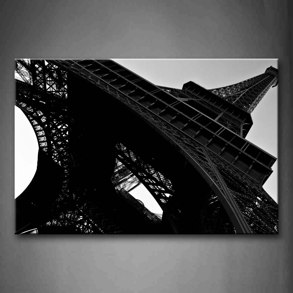 Black And White Sublime Eiffel Tower Wall Art Painting Pictures Print On Canvas City The Picture For Home Modern Decoration