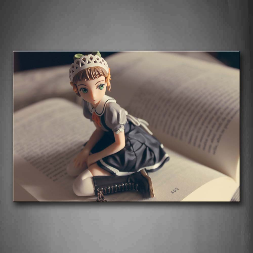 Beautiful Doll On Book Wall Art Painting The Picture Print On Canvas Art Pictures For Home Decor Decoration Gift