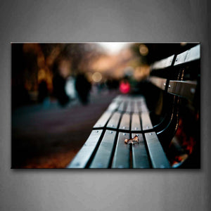 Bench Aside Street Portrait Wall Art Painting The Picture Print On Canvas City Pictures For Home Decor Decoration Gift